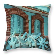 Carts And Door Throw Pillow
