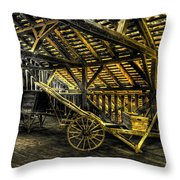 Carts Before The Horse Throw Pillow