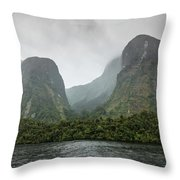 Carved By Glaciers Throw Pillow