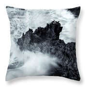 Carved By The Sea Throw Pillow