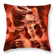 Carved Canyon Wals Throw Pillow