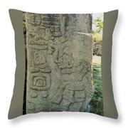 Carved Danzantes Stone Throw Pillow