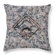 Carved Sunset Throw Pillow
