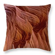 Carved Wave. Throw Pillow