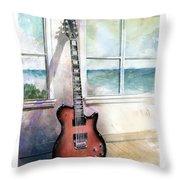 Carvin Electric Guitar Throw Pillow