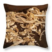Carving Curls Throw Pillow