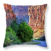 Carving The Canyons - Unaweep Tabeguache - Colorado Throw Pillow