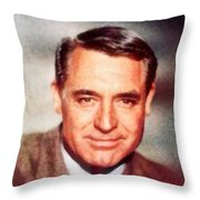 Cary Grant By John Springfield Throw Pillow