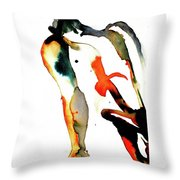 Cary - Orange Throw Pillow
