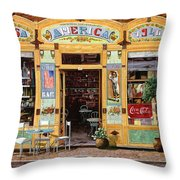 Casa America Throw Pillow