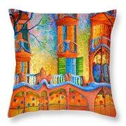 Barcelona Casa Batilo Throw Pillow