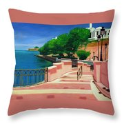 Casa Blanca - Puerto Rico Throw Pillow