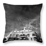 Casa Mila Throw Pillow by Dave Bowman