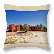 Casa Rojas Throw Pillow