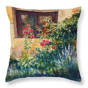 Casale Grande Rose Garden Throw Pillow