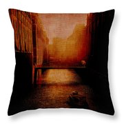 Casanova's Waterway Throw Pillow