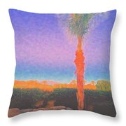 Casapaz  Palm At Dawn Throw Pillow