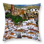 Casares From Signal Hill Throw Pillow