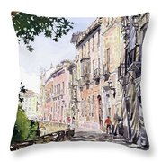 Casas Antiguas Del Albaicin Granada Throw Pillow