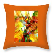 Cascade De Couleurs Throw Pillow