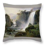 Cascade Dit Autrefois La Cascade De Tivoli Throw Pillow