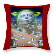 Cascade Goddess Throw Pillow