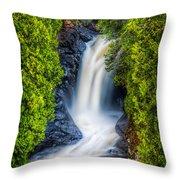 Cascade - Lower Falls Throw Pillow