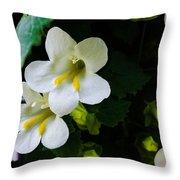 Cascade Of White Throw Pillow