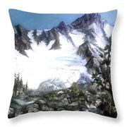 Cascade Splendor  Mount Fury Throw Pillow