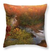 Cascade Valley Sunrise Throw Pillow