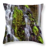 Cascades Of Burney Falls Throw Pillow