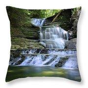 Cascading Descent Throw Pillow