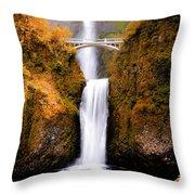 Cascading Gold Waterfall II Throw Pillow