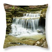 Cascading Into The Pool Throw Pillow