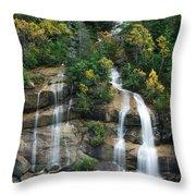 Cascading Skagway Waterfall  Throw Pillow