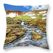 Cascading Source Stream Throw Pillow