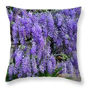 Cascading Wisteria 2 Throw Pillow