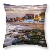 Cascais Beach Throw Pillow