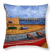 Cascais - Beach Throw Pillow