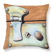 Case Latch Throw Pillow