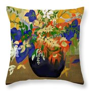Vase Of Flowers Throw Pillow