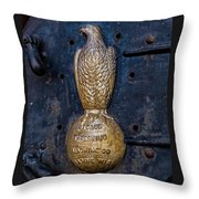 Case Threshing Machine Eagle Emblem Throw Pillow