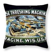 Case Threshing Machine Co Throw Pillow