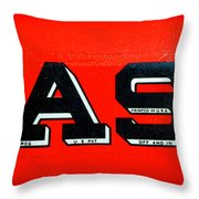 Case Tractor Nameplate Throw Pillow