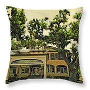Casements Green Throw Pillow