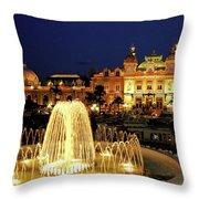 Casino De Monte Carlo-circa 2005 Throw Pillow