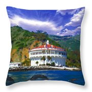 Casino From The Water Throw Pillow
