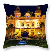 Casino Monte Carlo Throw Pillow by Jeff Kolker
