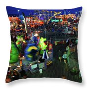 Casino Pier At Seaside Heights Throw Pillow