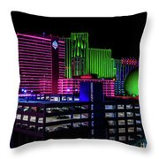 Casinos Throw Pillow